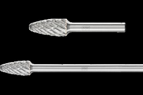 Hartmetallfrässtifte für Hochleistung, STEEL, Rundbogenform RBF
