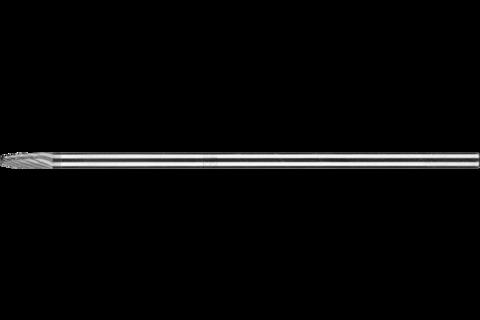 Hartmetall Frässtift Rundbogen RBF Ø 06x18mm Schaft-Ø 6x150mm Z3P universal mittel kreuzverz. 1
